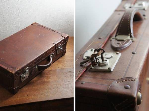 Trunk アンティーク トランクケース鍵付き インテリア 雑貨 家具 Antique ¥500yen 〆07月09日