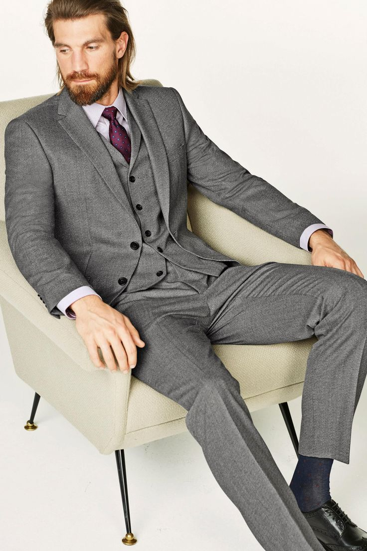 Buy Light Grey Textured Slim Fit Suit: Jacket from the Next UK online shop
