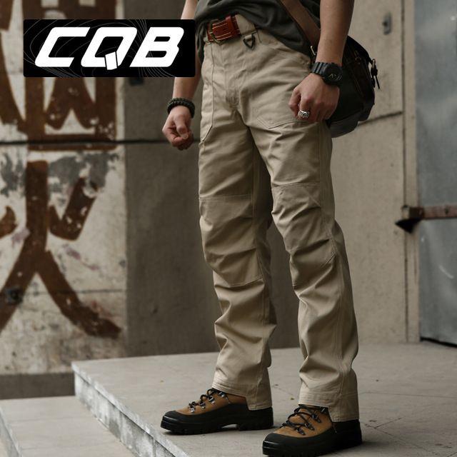 Alta calidad exterior CQB pantalones tácticos hombre pantalones de escalada Combat militar para hombre que va de excursión larga pantalones Coyote marrón caqui