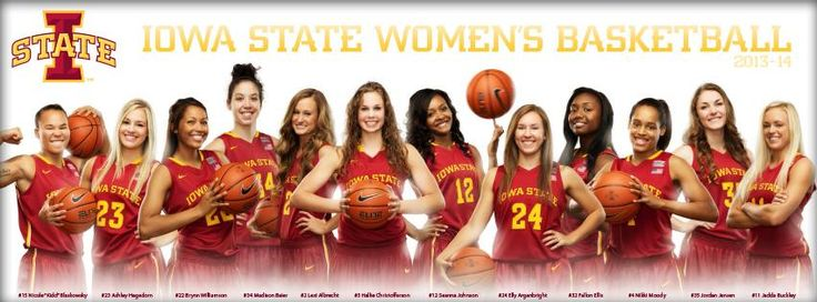 Women's Basketball Team Poster 2013-2014