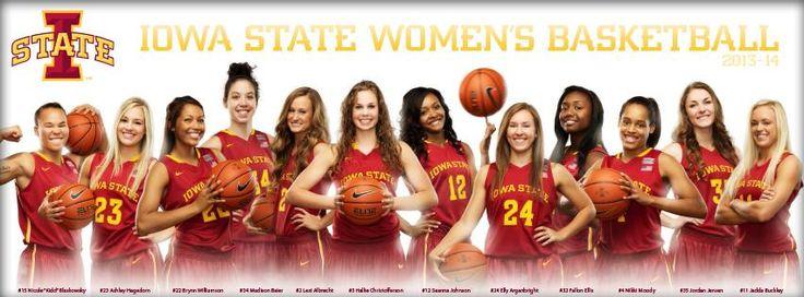 Women's Basketball Team Poster 2013-2014