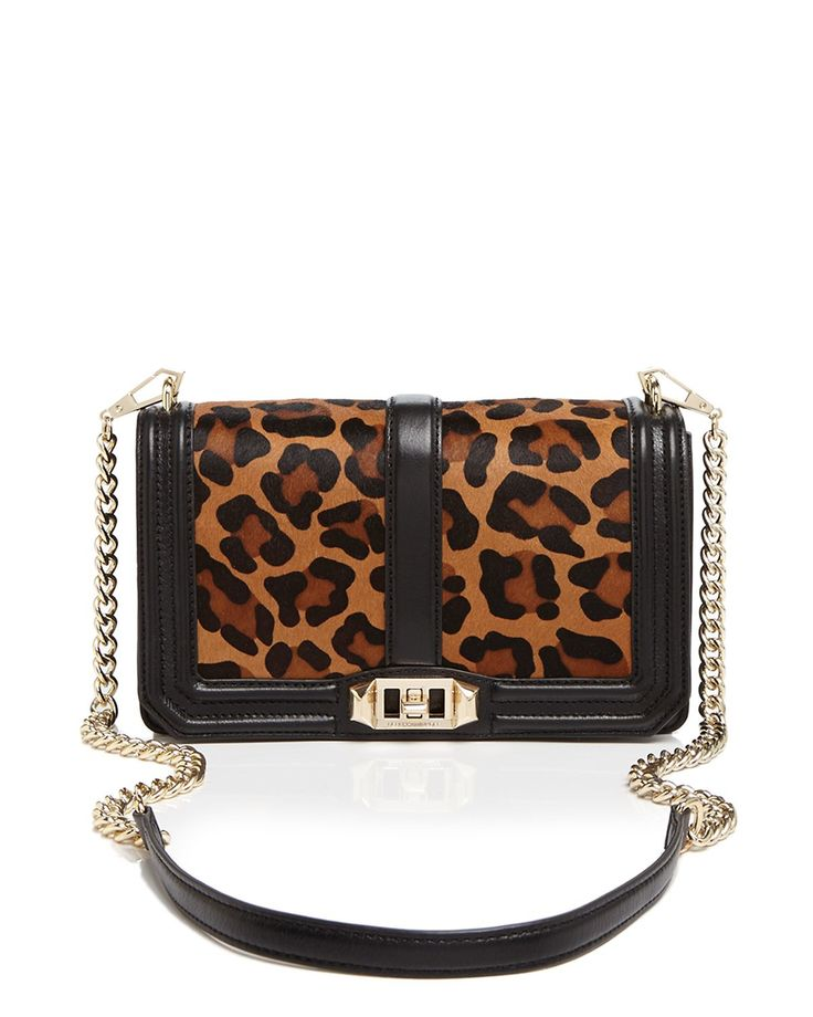 Rebecca Minkoff, Love Crossbody in Leopard Print Calf Hair