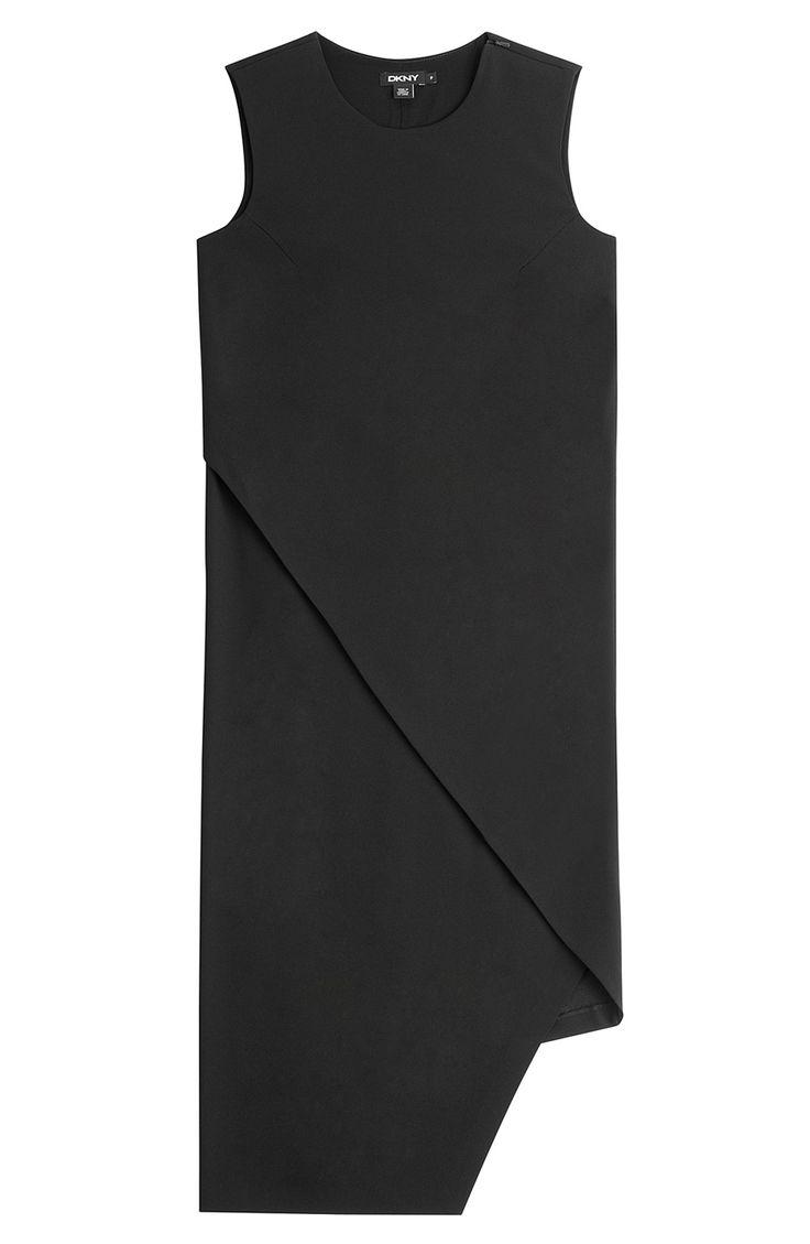 DKNY Asymmetric Draped Hem Dress. #dkny #cloth #office dresses