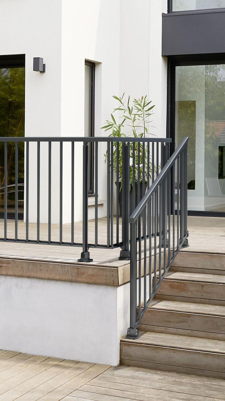 Balustrade Obeissante En Aluminium Bordures De Piscine Terrasse Balustrades