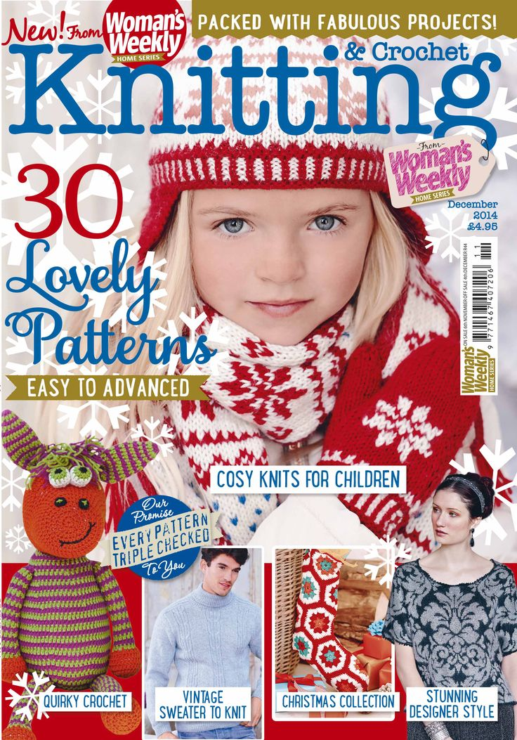 Knitting Magazine Cover : The december issue of knitting crochet is available in