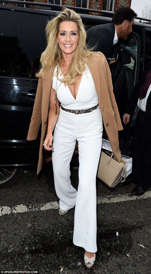 A vision in white: Yet another Real Housewives of Cheshire star was Dawn Ward, the wife of Wes Brown, who was radiant in a white jumpsuit