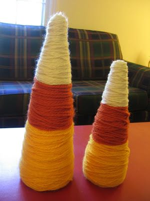 The Mommy Diaries: Candy Corn Decor {a tutorial!}