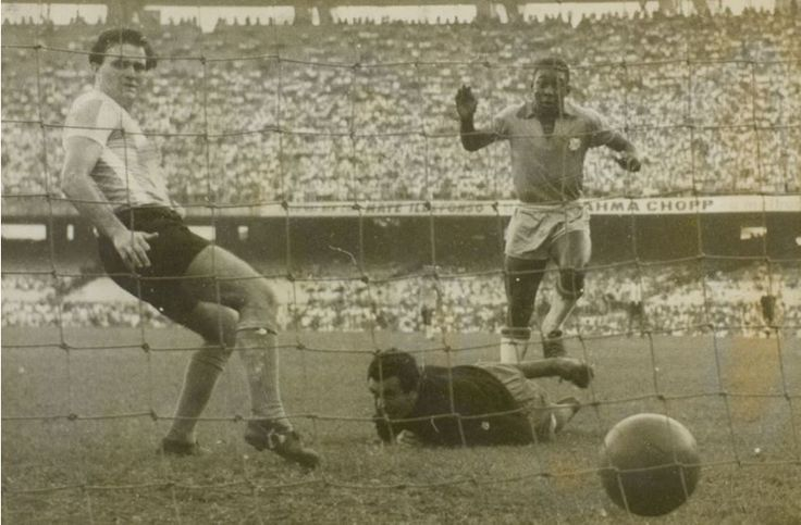 60 years ago today, Pele scored his first Brazil goal and began a career that would change football
