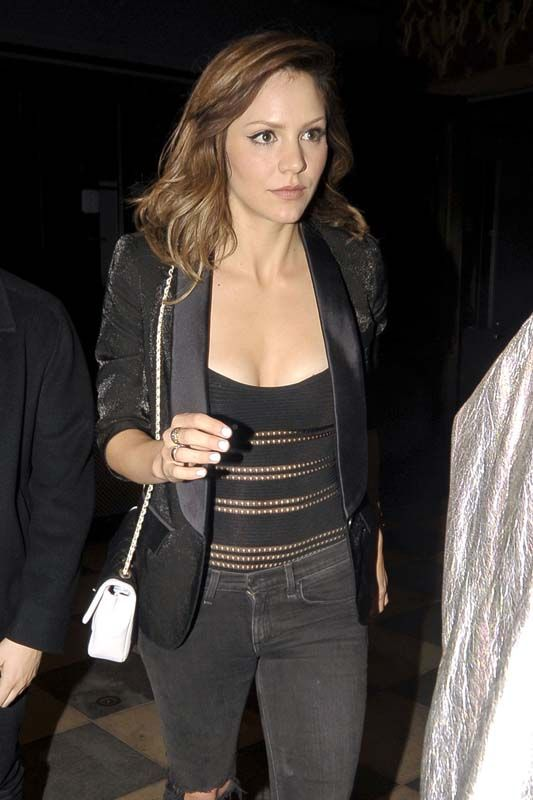 Actress Katharine McPhee attend at the Florence and the Machine concert in LA