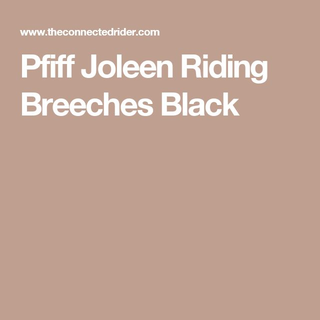 Pfiff Joleen Riding Breeches Black