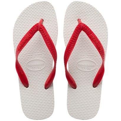 Havaianas do Bem - Legítimas Havaianas Branco/Vermelho - Compre uma destas e nós doaremos uma parte para ajudar alguém em algum lugar do Brasil e do mundo.