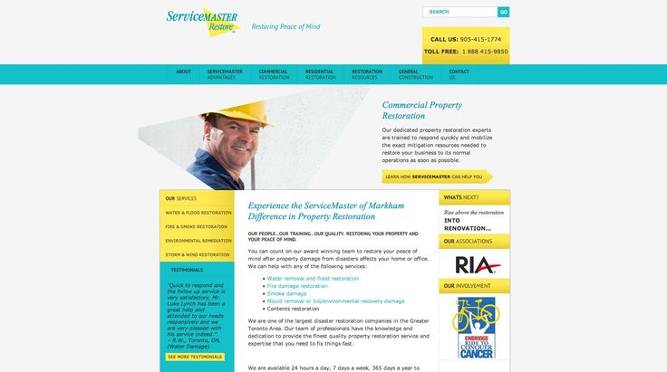 ServiceMaster - Website design and development - Treefrog is your web design, graphic design and web development agency. To see more of our work visit www.treefrog.ca