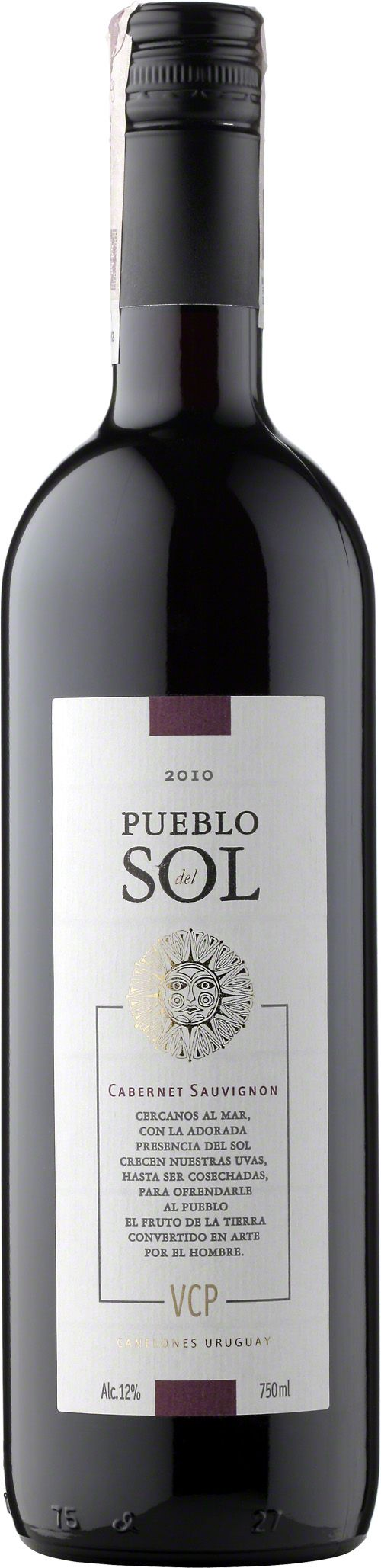 Pueblo del Sol Cabernet Sauvignon Wino o głębokiej rubinowej barwie charakteryzuje się intensywnym aromatem czerwonych owoców i przypraw, co daje niezwykle świeży i łagodny wyraz. Odpowiednia kwasowość oraz aromatyczny długi finisz akcentujący dojrzałość owoców i krągłość tanin. #PuebloDelSol #CabernetSauvignon #Wino #Urugwaj #Winezja #Canelones