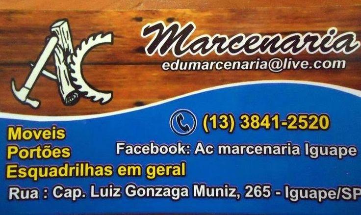 JORNAL AÇÃO POLICIAL ILHA COMPRIDA E REGIÃO ONLINE: MC MARCENARIA Rua. Cap. Luiz Gonzaga Muniz, 265 Centro - Iguapé, SP