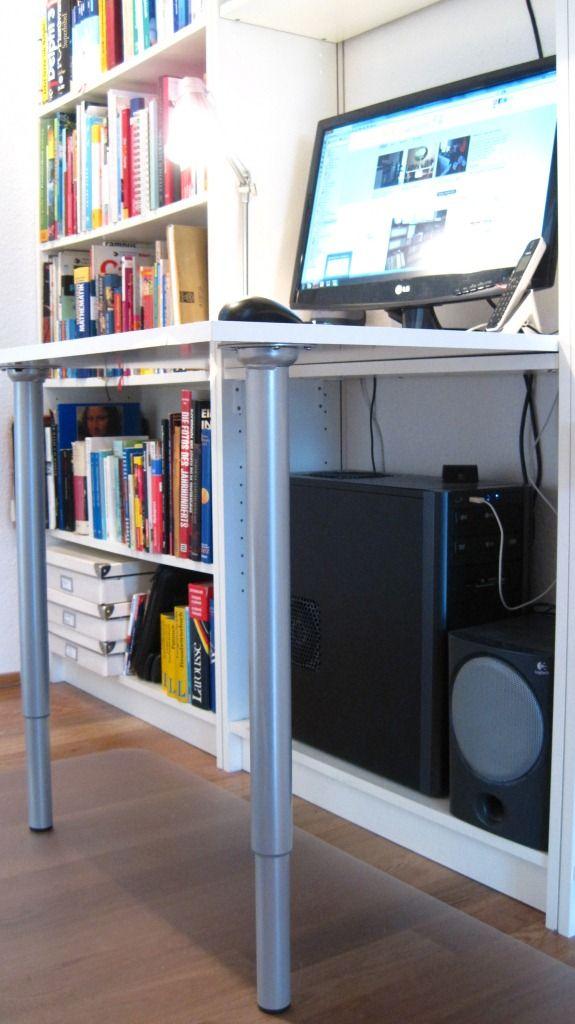 Ikea Hackers Billy Desk Projects Pinterest