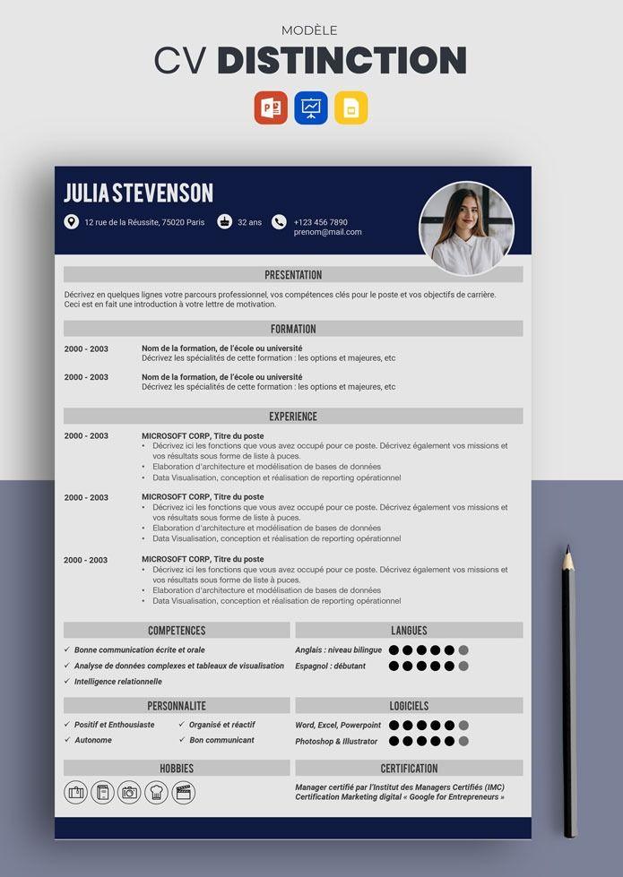 Curriculum Vitae Lettre De Motivation Cv Etudiant Recherche Emploi