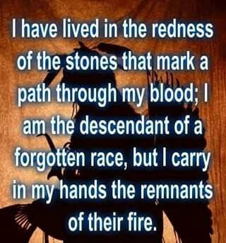 I am a descendant of a forgotten race, but God does not forget anyone