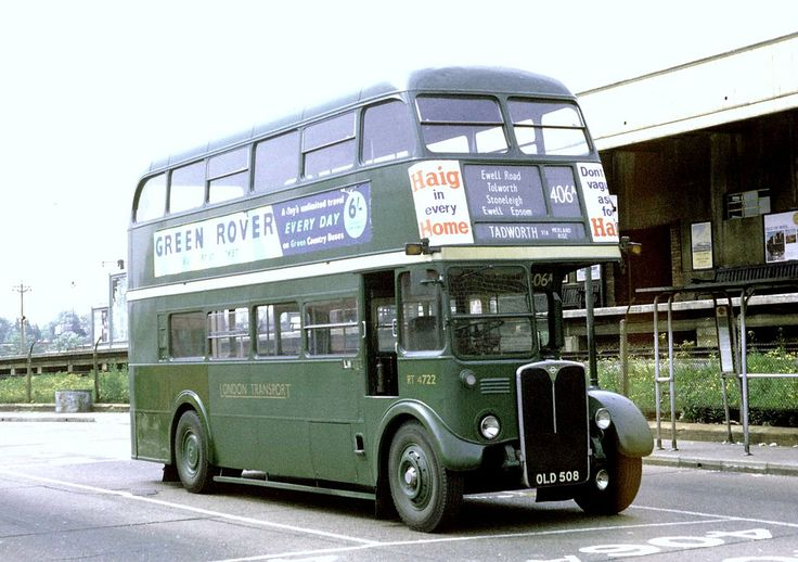 London Transport: RT4722 (OLD508) from Leatherhead Garage at Kingston Wood Street Bus Stand on Route 406A