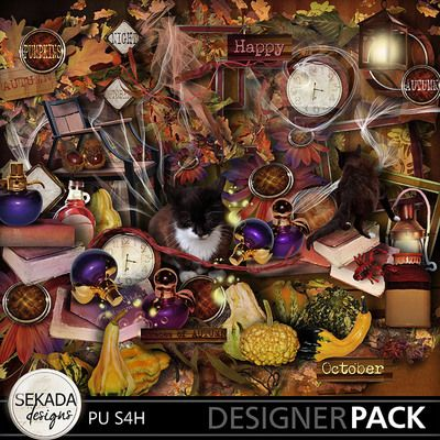 An October Dream Bundle, a digital scrapbooking kit from MyMemories Digital Scrapbooking.