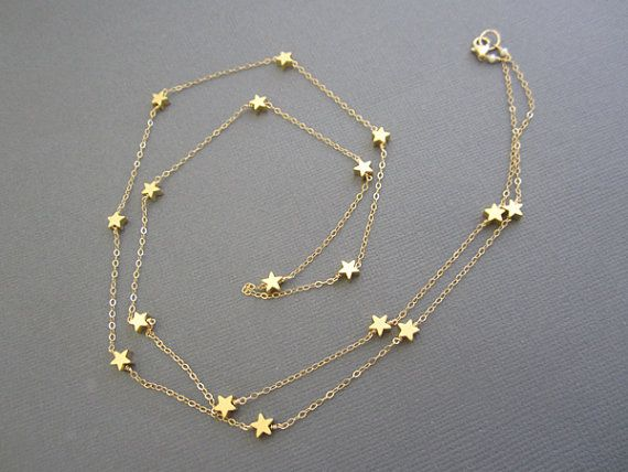 14K Vermeil Star Necklace Teacher's necklace Gift for by Muse411