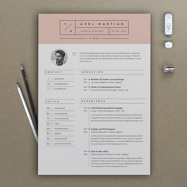 Resume Axel (2 pages) by Estartshop on @creativemarket