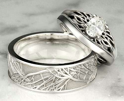 Wedding rings for nature lovers