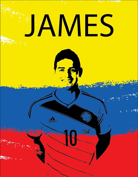 James Rodriguez 10 Colombia by niferdesigns on Etsy, $16.00