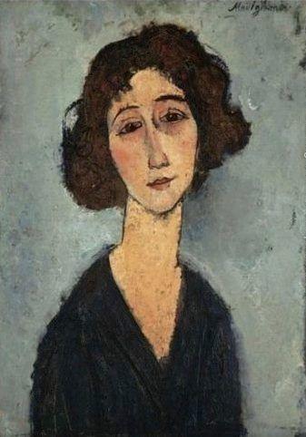 Modigliani Amedeo Jeune Femme (Totote de la Gaite). De mis pinturas favoritas de Amedeo.