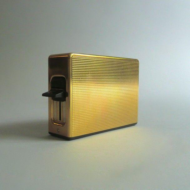 Braun -TOASTER TFG 1 Permanent (gold plate) Reinhold Weiss  1968