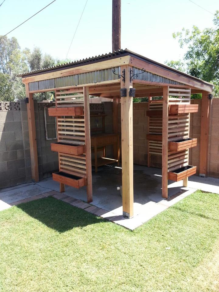 16 best pergola idea 39 s images on pinterest arbors for Redwood patio cover