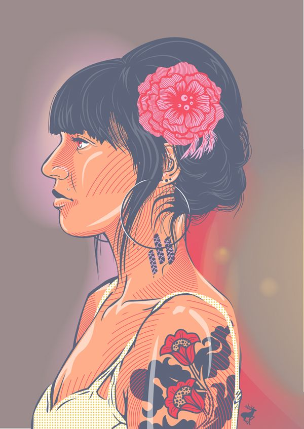 tattoo'd vector chick