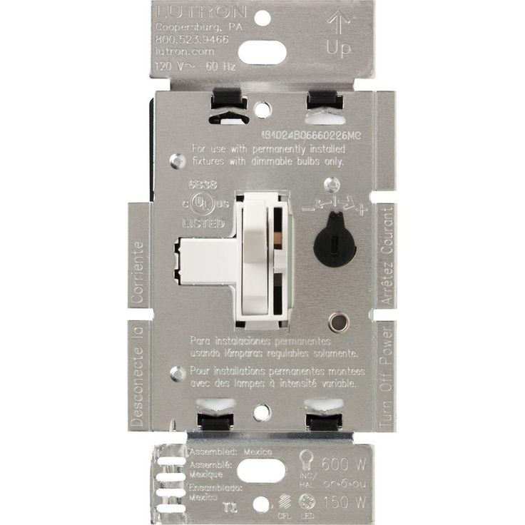 Lutron Toggler 150-Watt Single-Pole/3-Way CFL-LED Dimmer - White-TGCL-153PH-WH - The Home Depot