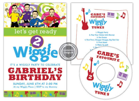 Invite ideas. And cds as favors, maybe....