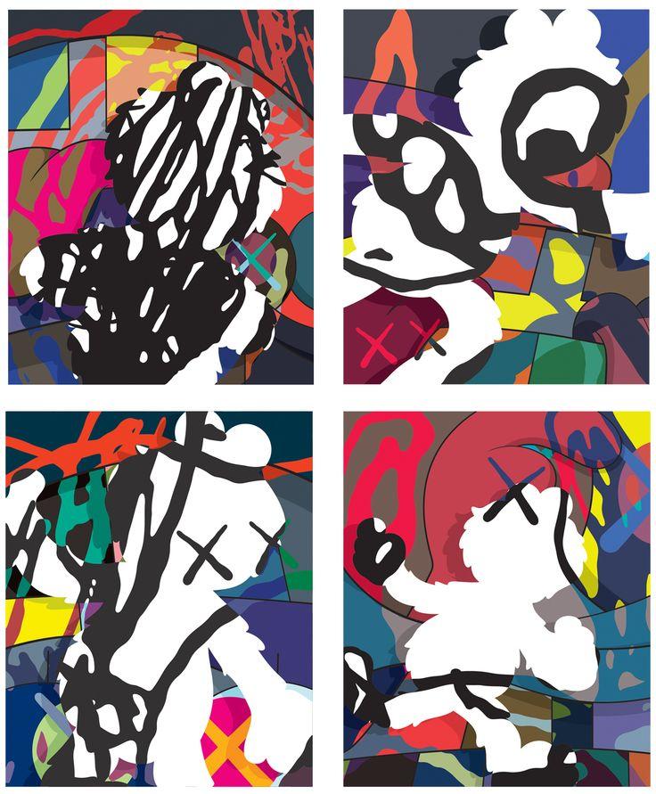 Survival Machine canvases, 2015, KAWS