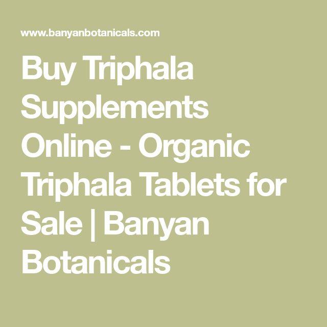 Buy Triphala Supplements Online - Organic Triphala Tablets for Sale | Banyan Botanicals