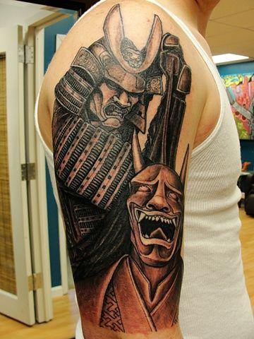 48 best demon samurai tattoo images on pinterest irezumi for Maryland tattoo shops