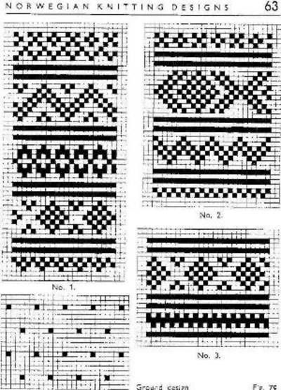 Traditional knitting patterns from setesdal Norway