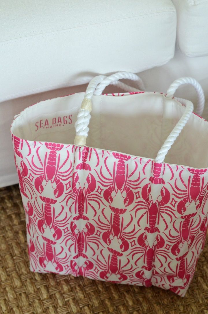 Sea Bags | Pink Lobsters for a Cure | recycled sails | Handcrafted in Maine http://seabags.com/pink-lobster-cure-tote.html?utm_source=pinterest &utm_medium=social&utm_content=04_12_16&utm_campaign=buffer *American Cancer Society does not endorse any product or service.