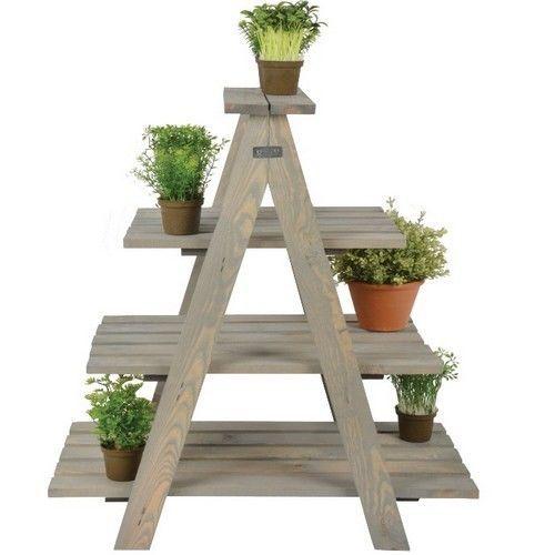 #Wooden #Planter #Garden #Ladder 3 Tier #Pot Triangular #Rack #Flower #Patio #Decor Shelf #home #yard #herbs #veggies