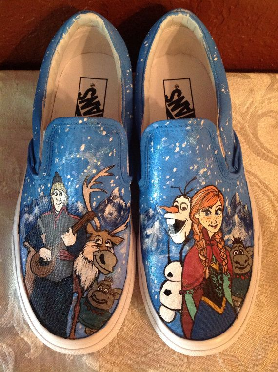 Frozen Shoes - get the paints to make your own here http://shop.vibesandscribes.ie/