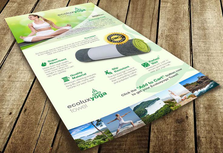 Diseño de poster Ecolux Yoga Towel | Dolphin Tecnologías