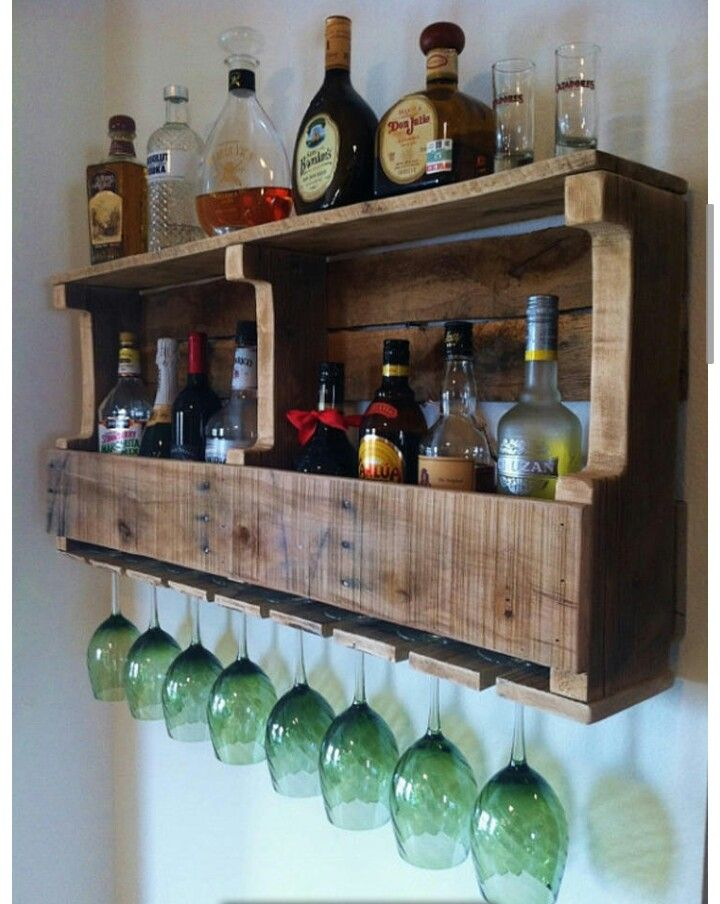 DIY liquor and wine cabinet