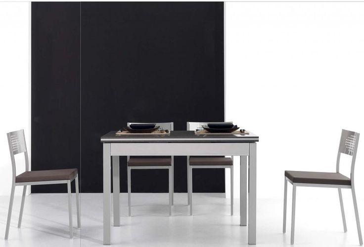 mesa de cocina maggie es una mesa extensible disponible en varias medidas desde 80x80 hasta