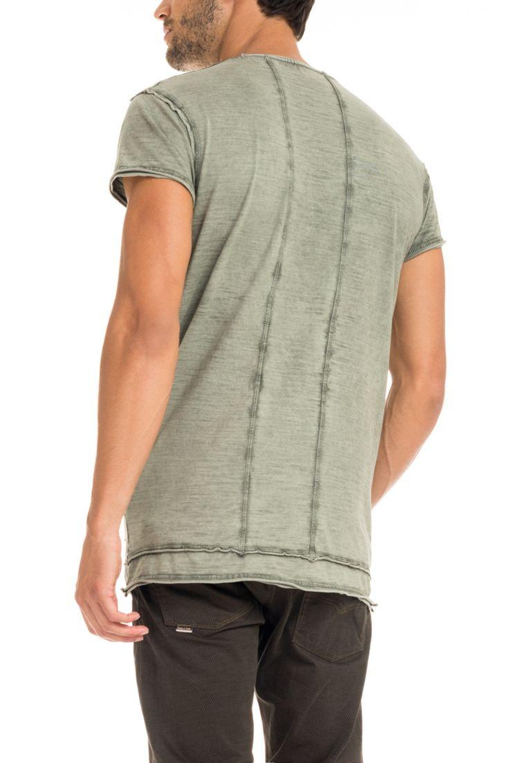 T-shirt 1st Level com gráfico e tingimento | 117707 VERDE JADE | Salsa