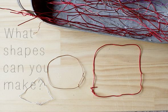 Ages 3+ -- Wire! Requires advanced fine motor skills but those vary by age. Great practice!