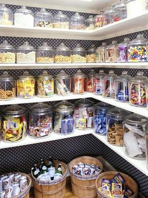 """Use jars in pantry for even """"non-pantry"""" things like batteries, matches, tape etc."""