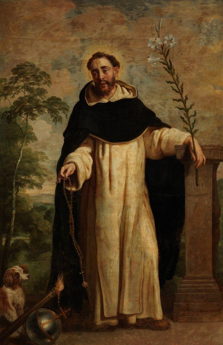 Saint Dominic of Guzmán / Santo Domingo de Guzmán // Ca. 1655 // Gaspar de Crayer // #Dominicans #Dominicanes #Rosary