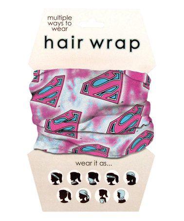 Loving this Pink Superman Hair Wrap on #zulily! #zulilyfinds
