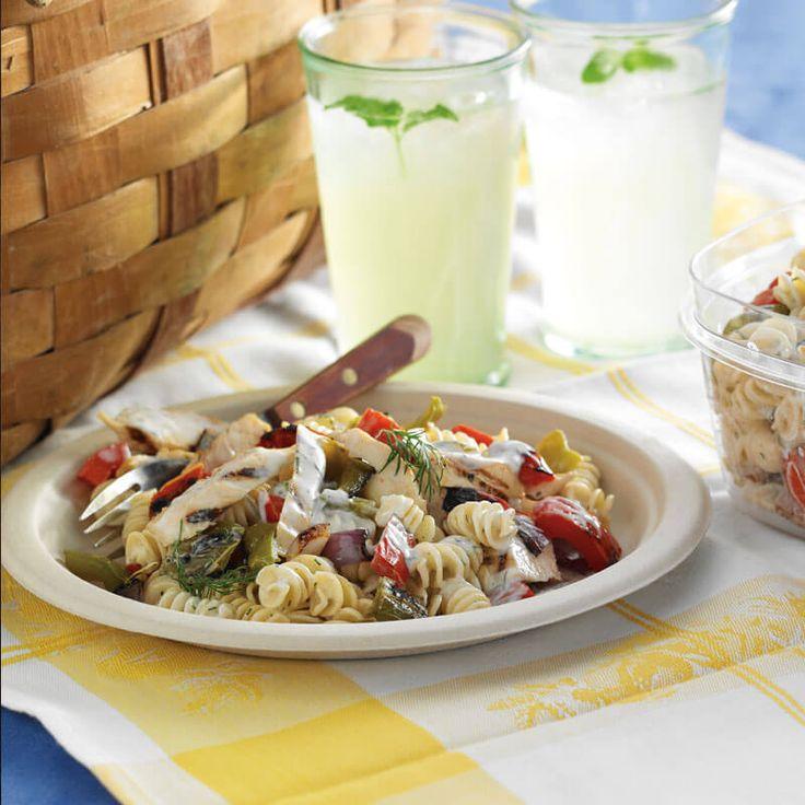 Grilled Chicken & Veggie Pasta Salad   Stonyfield