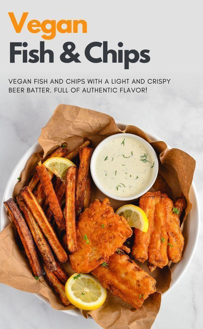 Vegan Fish And Chips Recipe With Images Vegan Fish Vegan Fish And Chips Vegan Dinner Recipes